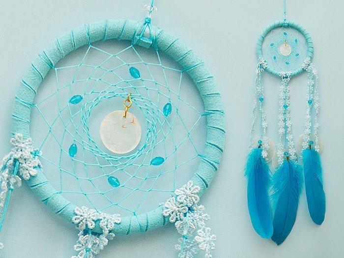 捕夢網 DIY材料包✿水藍色✿熱銷款『繼承者們款式』聖誕節禮物、情人節禮物、交換禮物、生日禮物、畢業禮物