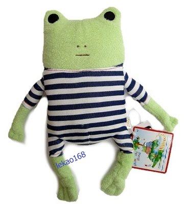 日本愛旅行的青蛙藍格紋M號玩偶組[新到貨   ]