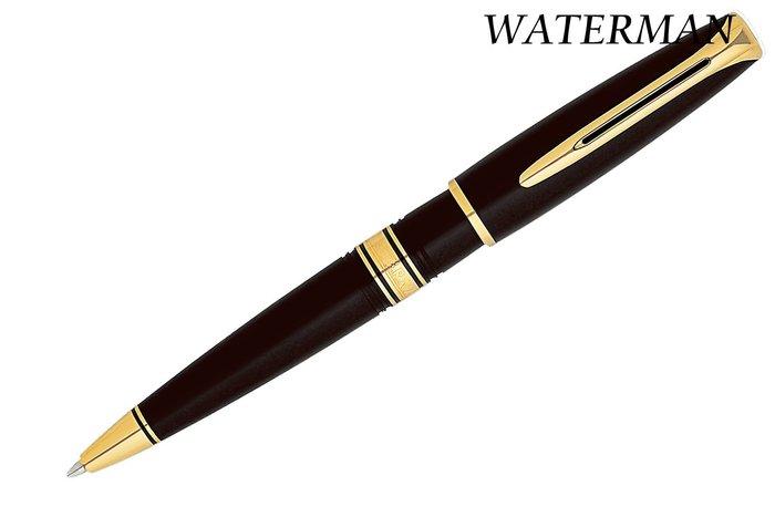 ~Penworld~法國製 WATERMAN威迪文 查理斯登黑桿金夾原子筆  W13004