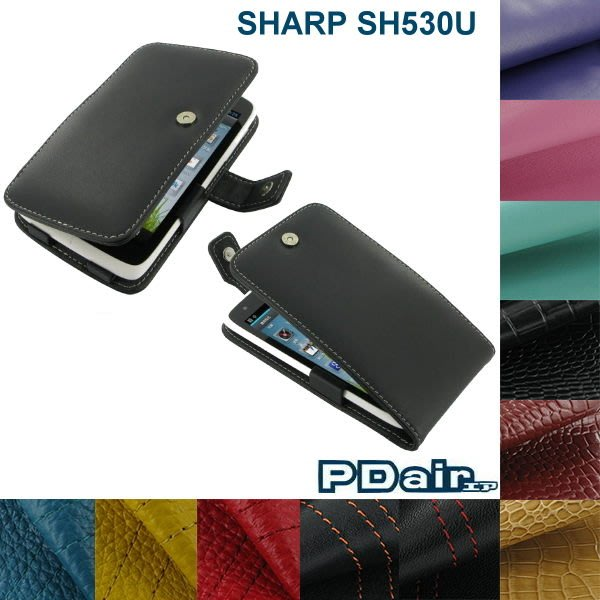 強尼拍賣~ PDair SHARP SH530U 高質感側翻 / 下掀式手機小牛皮真皮皮套 保護套~可客製顏色