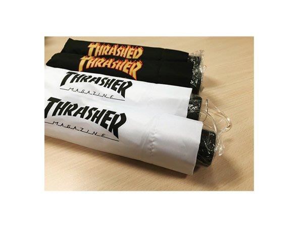 【HOPES】THRASHER FLAME/Logo UMBRELLA 日本授權經銷 抗UV 雨傘 黑色/白色