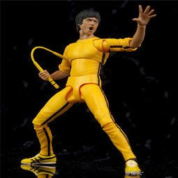 【紫色風鈴】動漫SHF李小龍Bruce lee75週年黃衣版猛龍過江可動模型港版