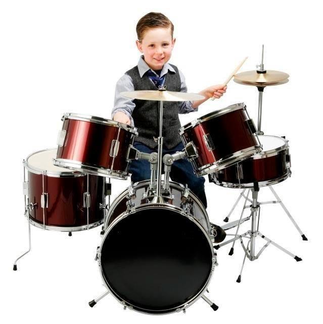 【六絃樂器】全新 Falcon E-600D 兒童爵士鼓 標準型 音樂節奏感 / 3~9 歲小朋友最佳打擊樂器