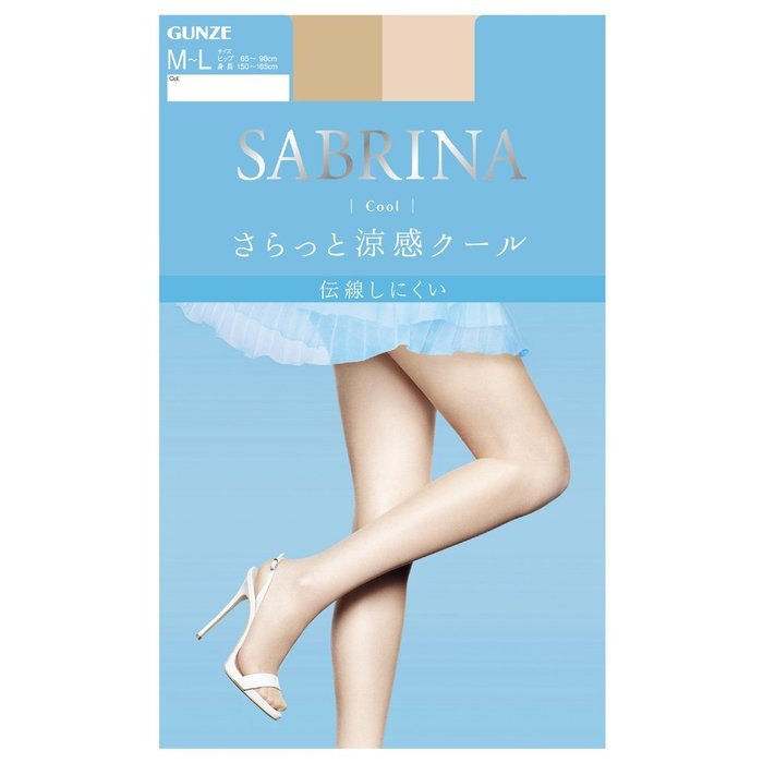 【拓拔月坊】GUNZE 郡是 SABRINA Cool 清爽涼感!UV對策 薄型透明 絲襪 日本製~新款!
