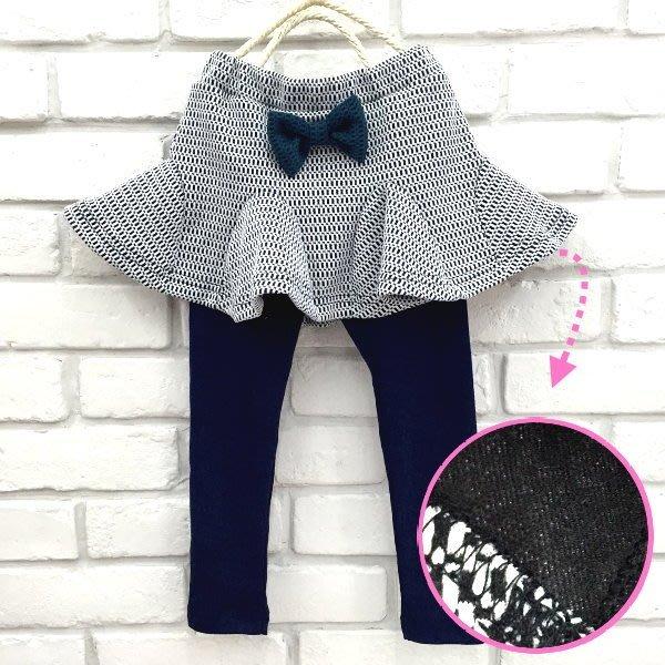 【班比納精品童裝】立體俏皮蝴蝶結康康裙褲 內搭褲-藍