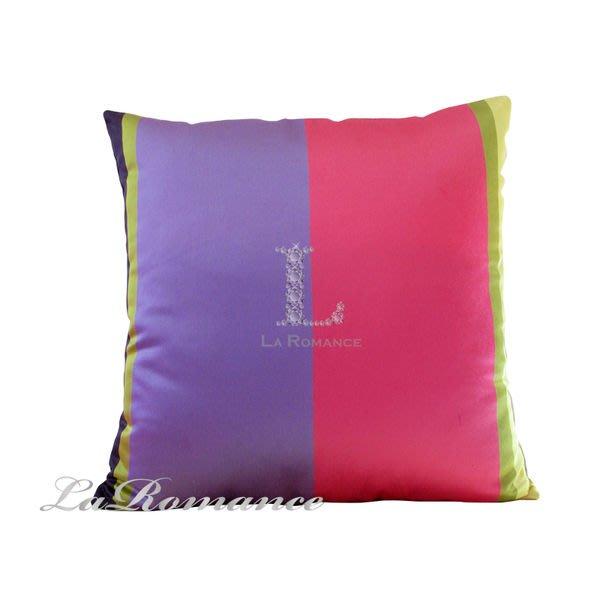 【La Romance 惜褔品出清】雙色抱枕 - 粉配紫 / 腰枕 /  靠墊 / 靠枕