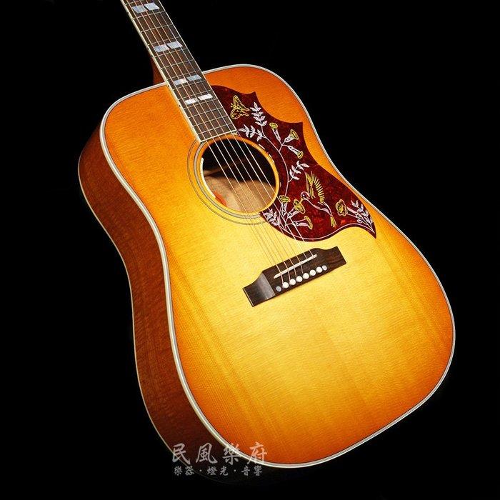 《民風樂府》Gibson Hummingbird Figured Mahogany 火焰桃花心木 全球限量50把