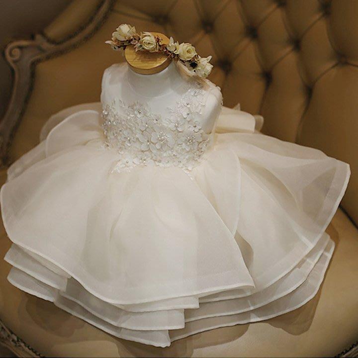 兒童禮服公主裙 女童禮服裙女童禮服公主裙蓬蓬裙生日周歲禮服裙 *呀呀*衣比妨
