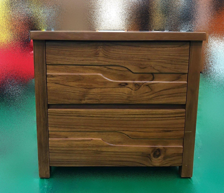 台中二手家具賣場 推薦宏品全新中古傢俱 家電 BL2858DE*全新柚木床頭櫃 實木高低櫃*電視櫃 收納櫃 置物櫃 矮櫃