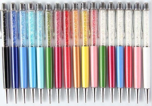 晶華屋--鑲鑽水晶圓珠筆/水晶筆 |水鑽原子筆(含包裝)