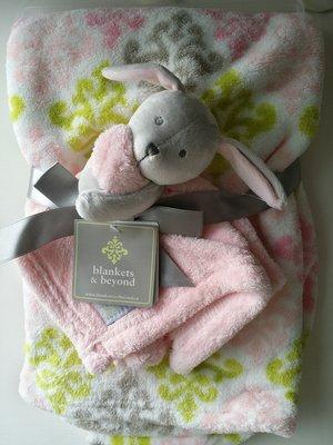【美國品牌】100%全新正品 嬰幼兒 輕柔舒眠 極柔絨毯/ 毛毯/ 抱毯/ 萬用毯 冷氣房可用 彌月禮 二件組BAB16
