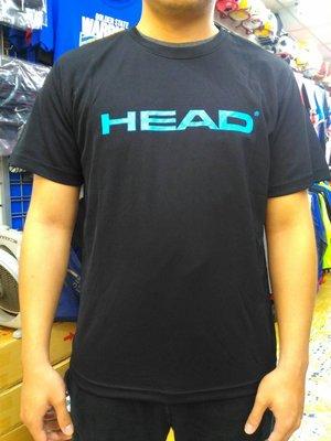 宏亮 HEAD 短袖 圓T 圓領 尺寸M~XL 透氣 吸濕 排汗 舒服 黑 台灣製 7H02AT07