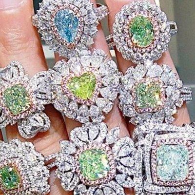 議價彩鑽首飾925純銀包白金戒指微鑲主...