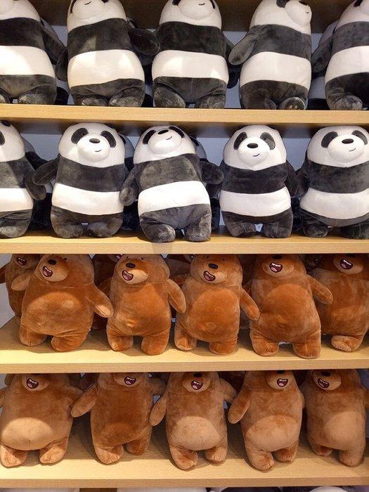 James room#熊熊遇見你 cn 日本正品miniso名創優品我們裸熊11寸站姿毛絨公仔可愛娃娃抱枕