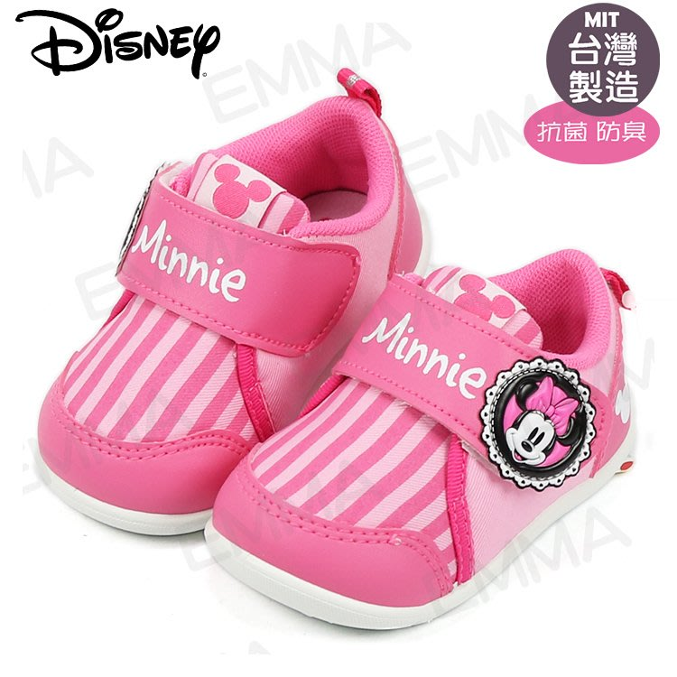 童鞋/迪士尼Disney米奇直條抗菌軟底寶寶鞋.學步鞋.桃13-15號(118131)
