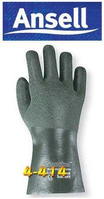 【米勒線上購物】防化學手套 ANSELL 4-414 PVC和丁晴混合手套 止滑耐磨