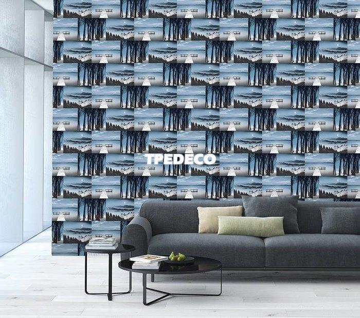 【大台北裝潢】PT馬來西亞現貨壁紙* 環保建材 灰藍色調 風景照 每支580元