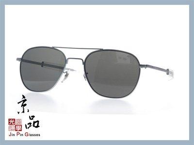 京品眼鏡 AO 美國 飛官太陽眼鏡 OP 57mm M.BA.CC 霧銀/透明色框 灰色樹酯鏡片 公司貨 JPG
