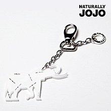 ~NATURALLY JOJO~大象鑰匙圈 白
