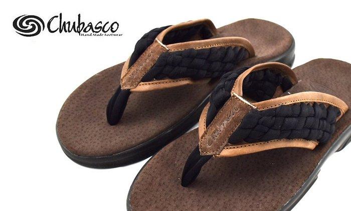 GOODFORIT / 美國Chubasco Black x Tobacco古老皮帶飾紋橡膠手工編織涼拖鞋