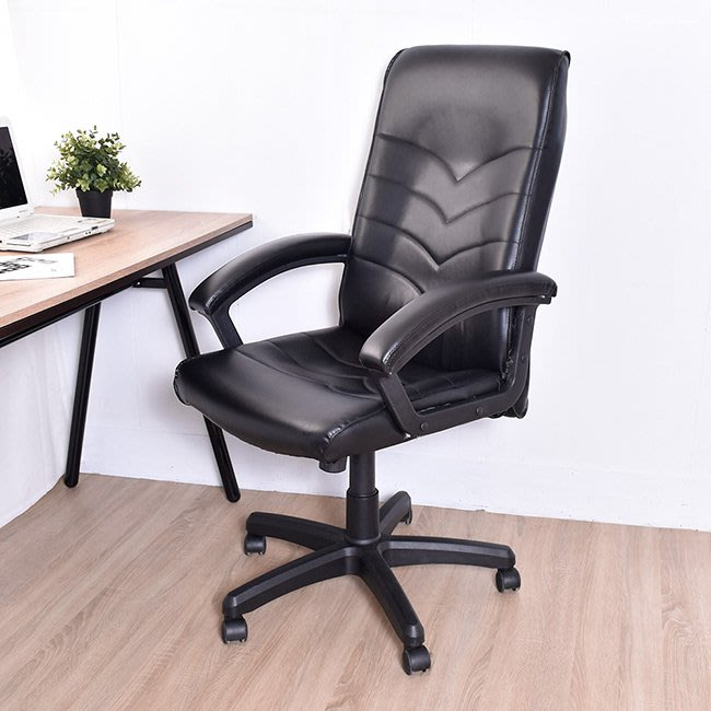 凱堡 布萊爾高背波麗紋皮椅/辦公椅【A30089】