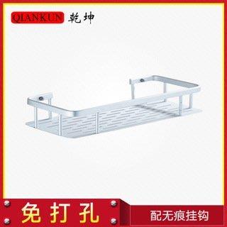 台灣賣家品質保證掉了包換 太空鋁 免釘 免打孔 無痕 掛鈎式 置物架 壁掛 創意 廚房 浴室 儲物架 單層下單區
