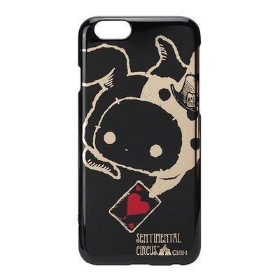 尼德斯Nydus~* 日本正版 San-X 憂傷馬戲團 硬殼 手機殼 黑底燙金 4.7吋 iPhone6