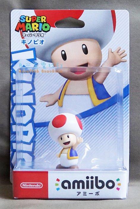【月光魚 電玩部】現貨全新 amiibo 超級瑪利歐 奇諾比奧 蘑菇 KINOPIO 人偶玩具 NFC 3DS NS
