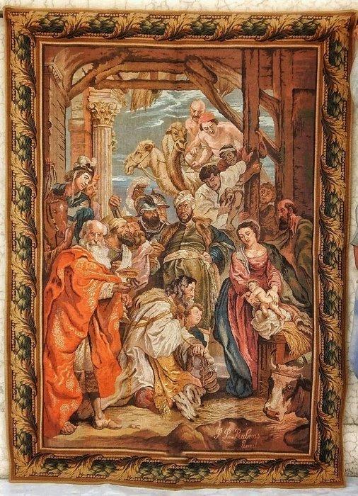 【波賽頓-歐洲古董拍賣】歐洲/西洋古董 法國早期 19世紀 耶穌誕生壁毯/掛毯(尺寸:170x123公分)(落款:P.P. Rulens)