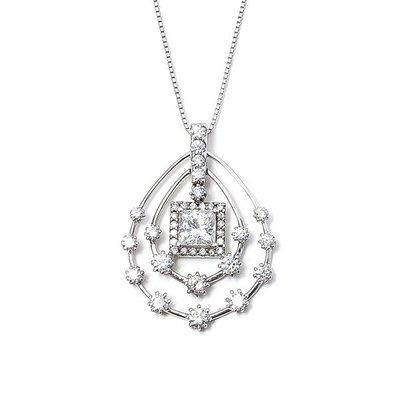 【JHT 金宏總珠寶/GIA鑽石專賣】1.02ct天然方鑽鑽墜/材質:18K(D0000076)