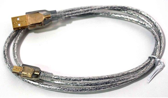 【開心驛站】1米  USB2.0 A公-Micro B公鍍金透明強化線