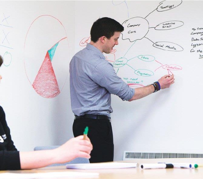 ~60x200cm白板貼 黑 綠板貼~可移除 牆貼 兒童塗鴉 教學 培訓 辦公 軟白板 黑