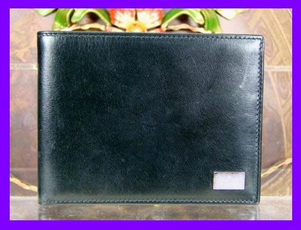 精品大師-GUCCI-黑色小牛皮6卡短夾/市價14000-極新真品