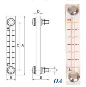油位計  (裝置於油箱外側,可檢視油箱內油位高低) OA-3