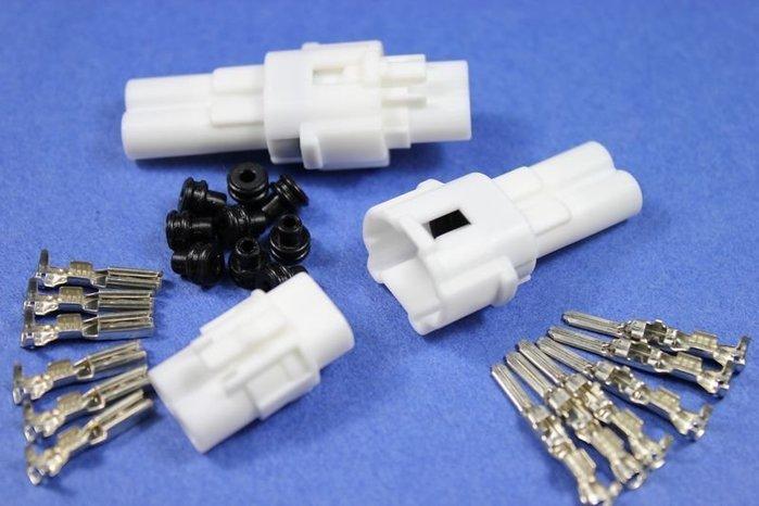 【傑西西 】車用電線接頭 pin 090 防水型 MT B type 有溝槽 2孔 連接器