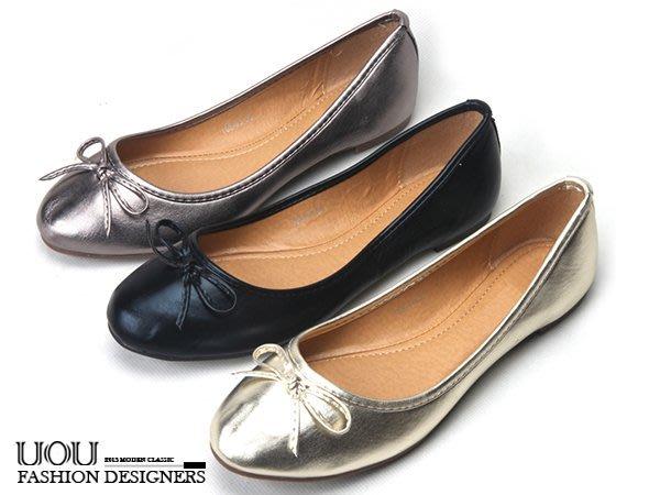 *UOU精品*韓國時尚款 蝴蝶結圓頭平底鞋淺口素面芭蕾舞鞋淺口軟皮豆豆鞋舒適娃娃鞋3色【s003】