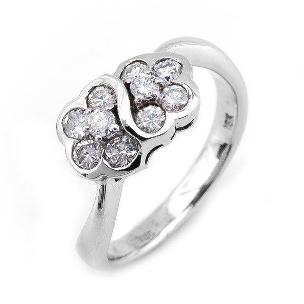 【JHT 金宏總珠寶/GIA鑽石專賣】0.30ct天然鑽石造型戒指/材質:18K(D000197)