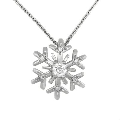 【JHT金宏總珠寶/GIA鑽石專賣】蕭邦 Chopard 雪花造型鑽石項鍊(JB44-B04)
