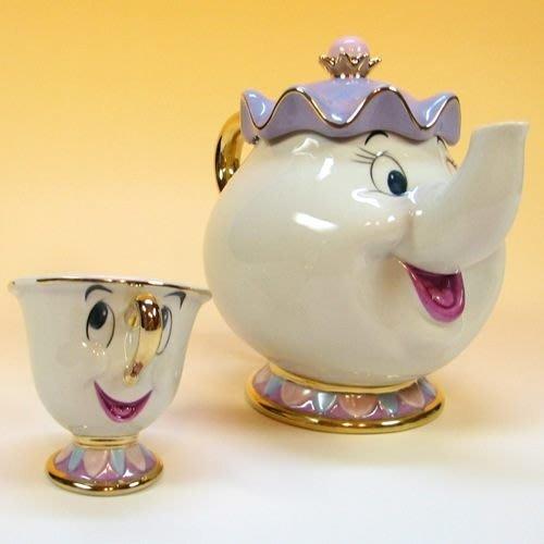 【FULL HOUSE 】超人氣Disney 美女與野獸茶壺媽媽  下午茶杯具組 超值