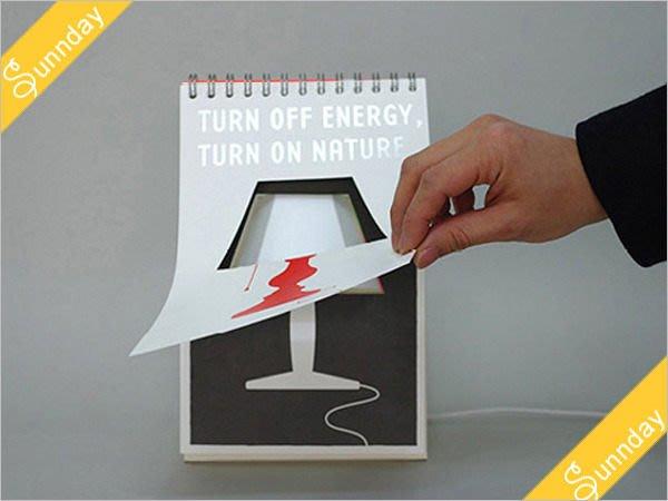 = 天 . 氣 . 晴 = [2277]奇特創意設計   DIY塗鴉LED翻頁檯曆燈/檯燈