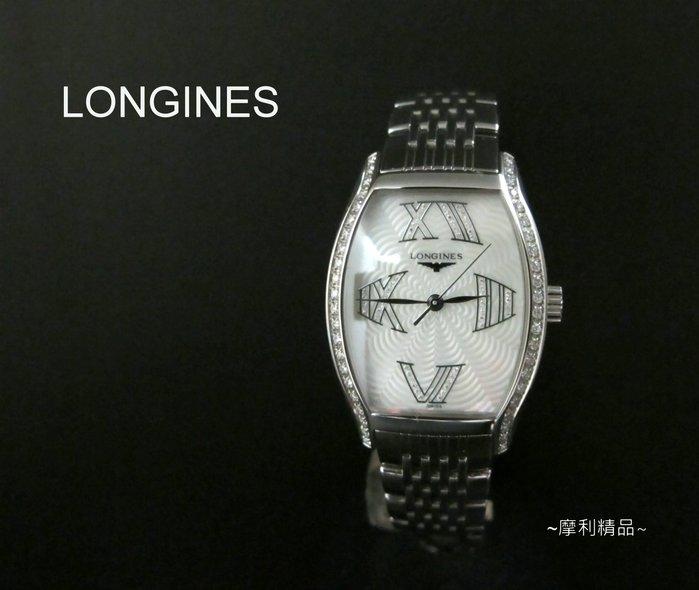 【摩利精品】 LONGINES浪琴原鑲鑽石女錶 * 真品* 低價特賣