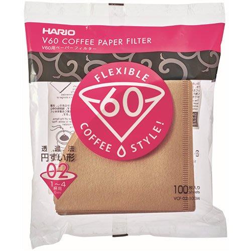 【北歐 】 HARIO V60 1~4杯用 咖啡濾紙 100枚入 VCF-02 高雄可面交