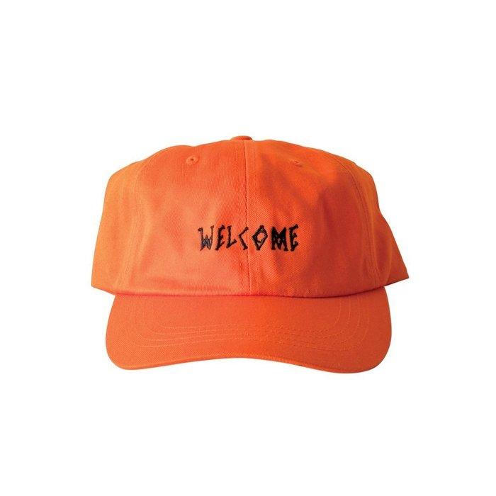 《Nightmare 》Welcome Skateboards Scrawl Dad Hat - Orange