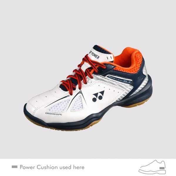 【凱將體育*羽球專業店】YONEX 兒童專業羽鞋POWER CUSHION 35 JUNIOR (SHB35JR)