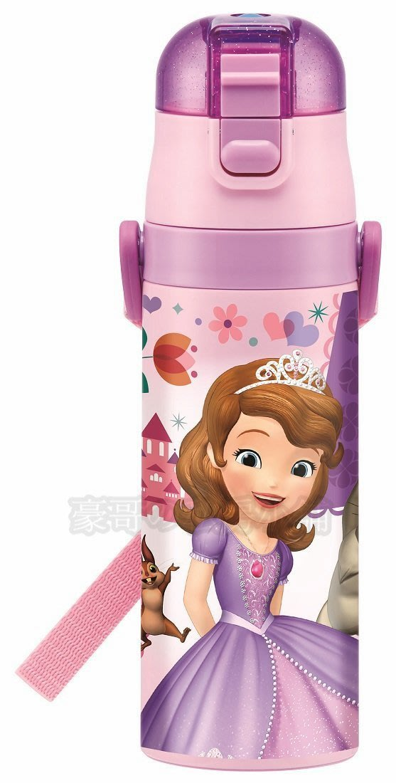 日本代購 迪士尼  SKATER 小公主蘇菲亞 小公主 SOFIA 超輕量不鏽鋼 直飲 保冷兒童水壺 470ml 現貨