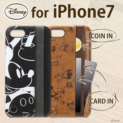 尼德斯Nydus 日本正版 迪士尼 米奇 Mickey 可插卡 皮套 手機殼 4.7吋 iPhone7