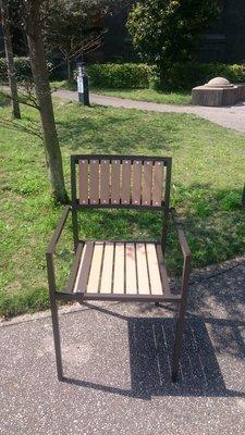 [兄弟牌戶外休閒傢俱] 塑木椅鋁合金框架~餐飲營業或自用陽台公園,堅固耐久用好維持。庭院休閒傢俱