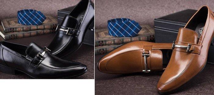 新品 英倫男士正裝商務皮鞋牛皮尖頭套腳皮鞋男鞋潮婚宴皮鞋