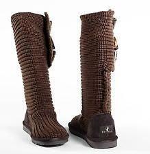 【天普小棧】美國熊掌BEARPAW Anastasia 中筒雪靴 羊毛靴 深咖啡色 US 8號 現貨抵台