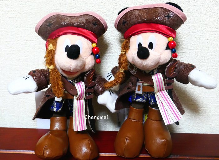 日本 迪士尼 吊飾 限量款 海盜 風 玩偶 娃娃 米奇